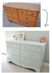 Antes y después con pintura a la cómoda.