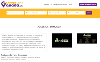 Azulejos Brihuega se suma al directorio compraenguada.es