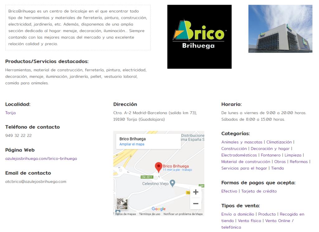 BricoBrihuega en el directorio compraenguada.es