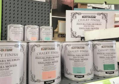 pintura efecto tiza chalky finish