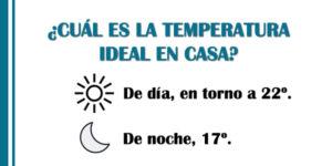 temperatura ideal en casa