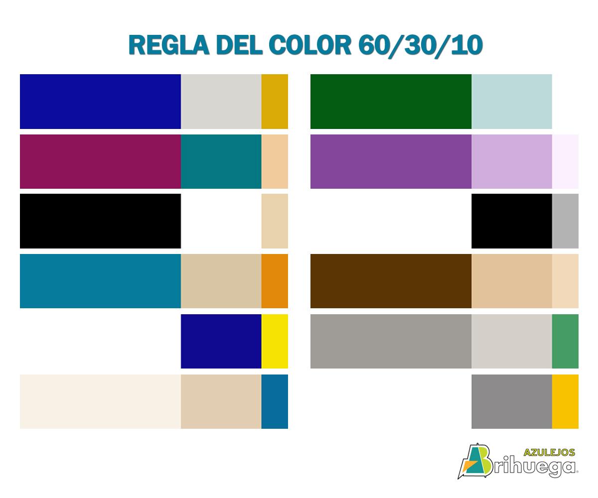 ejemplos regla del color 60/30/10